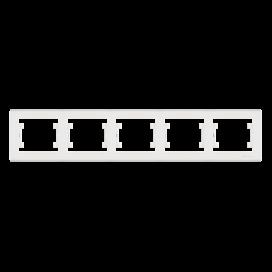Makel Manolya Οριζόντιο Πλαίσιο 5 Θέσεων Λευκό (41001705)