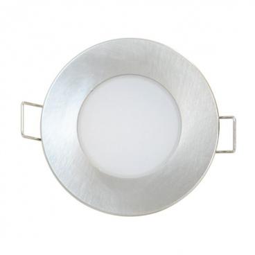 LED SMD ΑΣΗΜΙ χωνευτό φωτιστικό οροφής 5W 120° 3000K (VERA530RNM)