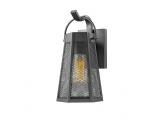 Aca Nyx Επιτοίχιο Φωτιστικό Μαύρο (NYX1WPBK)