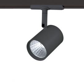 Aca Σποτ ράγας LED COB 2 καλωδίων 12W 3000K Μαύρο (ZUNO1230B250)