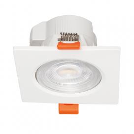LED SMD ΛΕΥΚΟ χωνευτό φωτιστικό οροφής 7W 40° (FALKO7S)