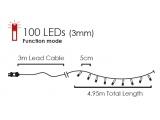 100 Led (3mm) RGB + Yellow με Πράσινο Καλώδιο & Πρόγραμμα (100ML44T8FG)