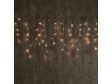 144 Led (5mm) Λαμπάκια Βροχή Θερμά με Διάφανο Καλώδιο & Πρόγραμμα (R144WWE44T8FC)