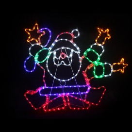 288 Leds (3mm) Dance Santa (XSANTALEDMC96)