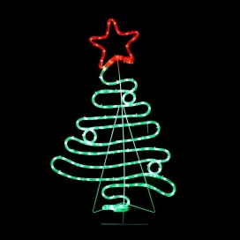 132 Leds (3mm) Christmas Tree (XTREELEDGR90)