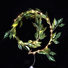 30 Led (3mm) Λαμπάκια Wreath με Διάφανο Καλώδιο (XWGLEAF302A)