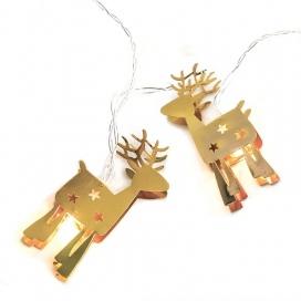 10 Led (5mm) Θερμά Λαμπάκια Metal Gold Reindeer (XE10WW2A)