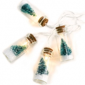 10 Led (5mm) Θερμά Λαμπάκια Glass Bottle Green Tree (XH10WW2A)