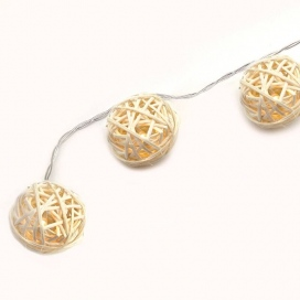 10 Led (5mm) Θερμά Λαμπάκια Plastic Wrapped Balls (FWBALL10WW2A)