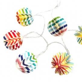 10 Led (5mm) Θερμά Λαμπάκια Paper Multicolor Balls (XO10WW2A)
