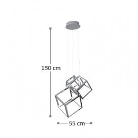InLight Led Κρεμαστό Φωτιστικό 80W Χρώμιο (6145-80)