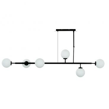 InLight Εξάφωτο Φωτιστικό Οροφής Μαύρο (6170-6)