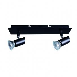 Inlight Δίφωτο Spot Οροφής Μαύρο (9078-2)