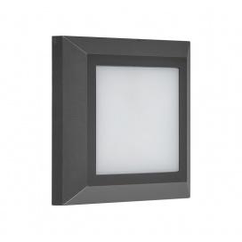 LED SMD επίτοιχη απλίκα 4W 3000Κ Γραφίτης (3-9701)