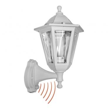 Επιτοίχιο Εξάγωνο Φωτιστικό με Ανιχνευτή Κίνησης Λευκό (9-350)
