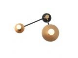 Aca Επιτοίχιο Φωτιστικό Ορείχαλκος - Μαύρο (OD742W74BR)