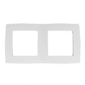 Acaelec Prime Πλαίσιο 2 Θέσεων Λευκό (1000119101)