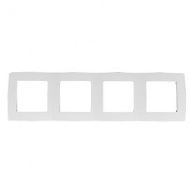 Acaelec Prime Πλαίσιο 4 Θέσεων Λευκό (1000119301)