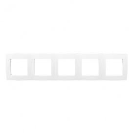 Acaelec Prime Πλαίσιο 5 Θέσεων Λευκό (1000119401)