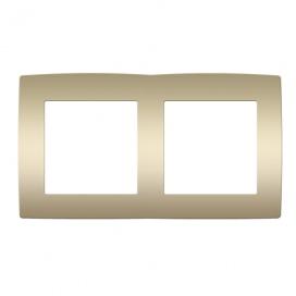 Acaelec Prime Πλαίσιο 2 Θέσεων Ματ Σαμπανιζέ (1000119104)