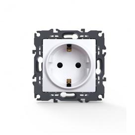 Acaelec Prime Πρίζα Σούκο Ασφαλείας Λευκή (1000116001)