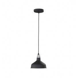 Fischer Honsel Κρεμαστό Φωτιστικό Pit Μαύρο ματ-Νίκελ ματ Φ21 (61140)