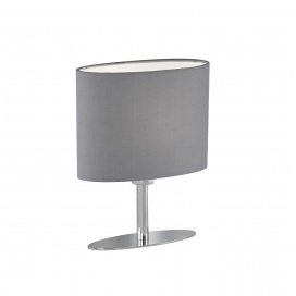 Fischer Honsel Επιτραπέζιο Φωτιστικό Yimmi Γκρι-Χρώμιο (50185)