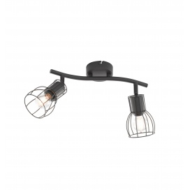 Fischer Honsel Σποτ Φωτιστικό Οροφής Kafes Μαύρο Πλέγμα 2xE14 (20798)