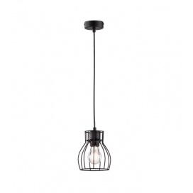 Fischer Honsel Κρεμαστό Φωτιστικό Οροφής Kafes Μαύρο (60020)