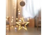 Led Διακοσμητικό CLEAR PLASTIC STAR 10 Led Θερμά (X04151110)