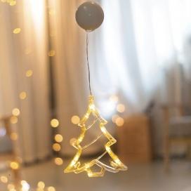 Led Διακοσμητικό CLEAR PLASTIC XMAS TREE 10 Led Θερμά (X04151106)