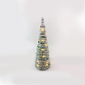 Επιτραπέζιο GREEN RATTAN SNOWY Δέντρο 30 Led Θερμά 50cm (X1130119)
