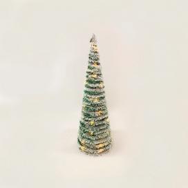 Επιτραπέζιο GREEN RATTAN SNOWY Δέντρο 40 Led Θερμά 60cm (X1140119)