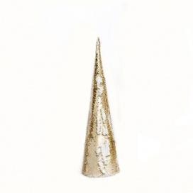 Επιτραπέζιο GOLD & WHITE SEQUIN Δέντρο 20 Led Θερμά 50cm (X1120118)