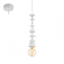 Eglo Avoltri Vintage Ξύλινο Φωτιστικό Πατίνα Λευκό (49374)