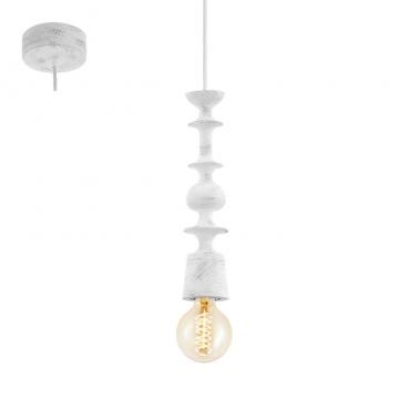 Eglo Avoltri Vintage Ξύλινο Φωτιστικό Πατίνα Λευκό