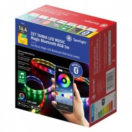 Spotlight ΣΕΤ 5μ SMD LED MUSIC Magic Bluetooth Λωρίδα 14.4W/m RGB (5143)
