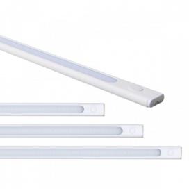 LED SMD μεταλλικό γραμμικό φωτιστικό τύπου T5 28.4cm 4W 4000K (6001)