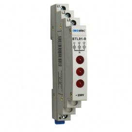Ενδεικτική Λυχνία Ράγας Τριπλή Κόκκινη 3P 230V (DY02170001)