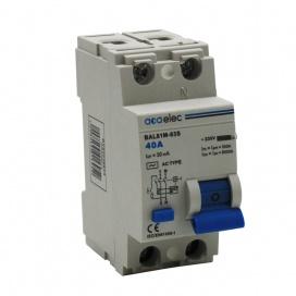 Διακόπτης Διαρροής 40A 2P 230V Κατηγορίας 30mA ΑC (DY02030013)