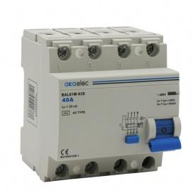 Διακόπτης Διαρροής 40A 4P 4000V Κατηγορίας 30mA ΑC (DY02030038)
