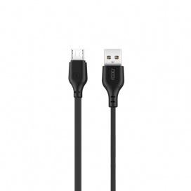 XO Καλώδιο Φόρτισης Micro USB 2m Μαύρο (16.005.0069)