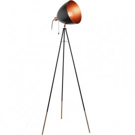 Eglo Chester Industrial Φωτιστικό Δαπέδου Μαύρο (49386)