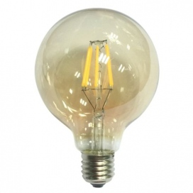 Λάμπα Cog Led Amber Globe Ø125 6W E27 2700K Dimmable