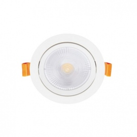 LED COB χωνευτό κινητό φωτιστικό οροφής 5W 24° 4000K (THEROB540R)