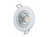LED COB ΝΙΚΕΛ χωνευτό κινητό φωτιστικό οροφής 6W 60° 3000K (THEROC630RNM)