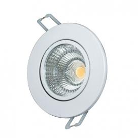 LED COB ΝΙΚΕΛ χωνευτό κινητό φωτιστικό οροφής 6W 60° 6000K (THEROC660RNM)