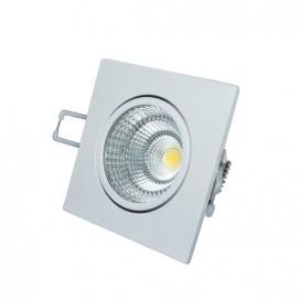 LED COB ΛΕΥΚΟ χωνευτό κινητό φωτιστικό οροφής 6W 60° 4000K (THEROC640S)