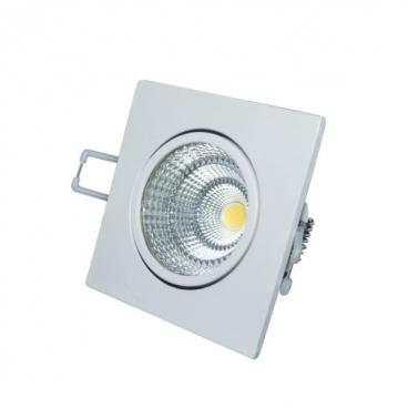 LED COB ΛΕΥΚΟ χωνευτό κινητό φωτιστικό οροφής 6W 60° 6000K (THEROC660S)
