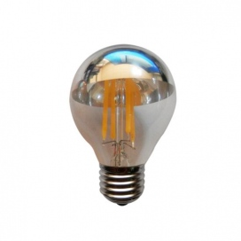 Λάμπα COG LED Half Silver Retro 4W E27 2700K Dimmable